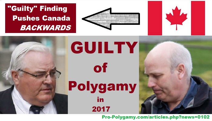 After anti-polygamy law deemed *constitutional* to criminalize in Canada, one lone judge finds two leaders of Bountiful group *guilty of polygamy,* even as case involved only adult women and no other real crimes.
